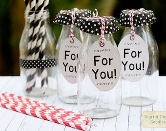 PRINTABLE Party favor tags, diy party tags, INSTANT DOWNLOAD