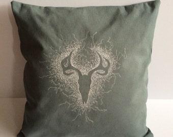 Deer Skull Cushion
