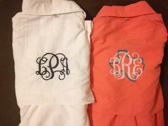 Monogrammed fishing shirt by truegraceembroidery on etsy for Monogram fishing shirt