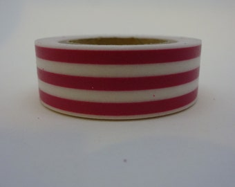 Pink stripes Washi tape 9.1 m/10 yards crafting tape washi decorative tape cardmaking tape baby tape scrapbook tape pattern washi