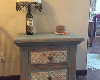 Moroccan Chic Nightstand~