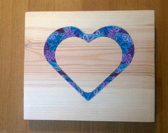 Blue Quill Heart