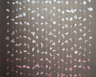 Anthropologie- Inspired Paper Flower Garland: Blush Ombre