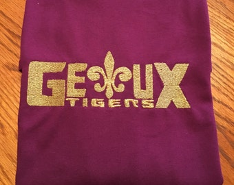 LSU Geaux Tigers shirt - long or short sleeve
