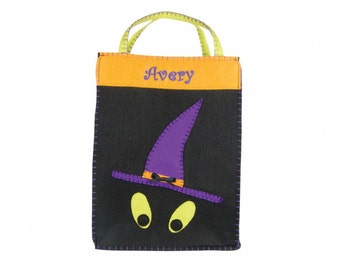Personalized Classic Witchy Boo! Trick or Treat Bag - Medium