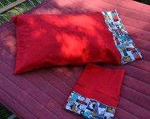 Cartoon Pillow Cases, Cartoon Pillow Case Set, Pillow Case Set, Pillow Cover Set, Red Pillow Cases, Red Pillow Covers, Bedding, Inventors