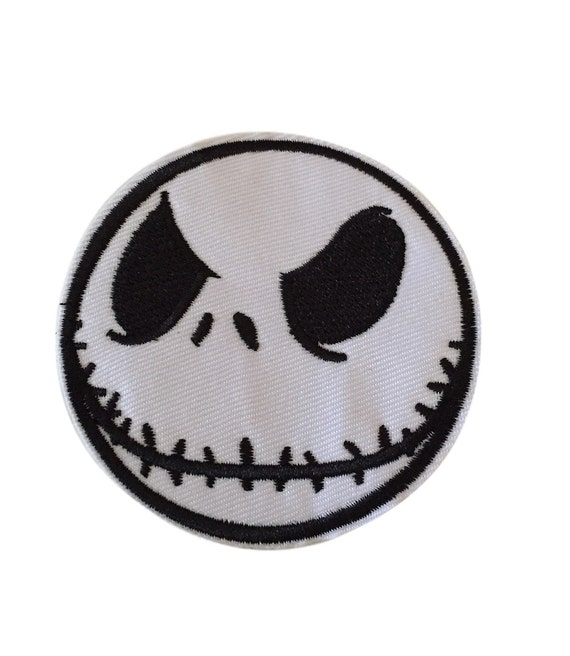 Nightmare Before Christmas Jack Big Face Embroidered Iron On