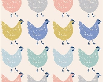 ROOST KNIT is here!!  Birch Organic Cotton Interlock; Adorable Chicken Print Fabric; Sewing; Clothing
