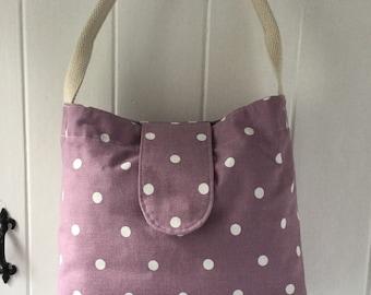 Lilac spot fabric hanbag