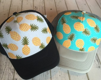 Pineapple, pineapples, pineapple hat, pineapple design, cute pineapple hat, pineapple fashion, womens hat, kids hat