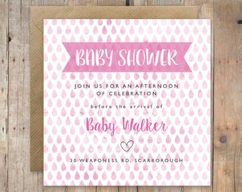 Baby Shower Invite- Custom Printable (Pink)