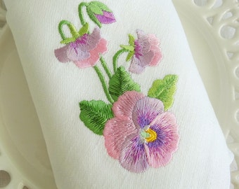 Machine Embroidery Design - Pansies
