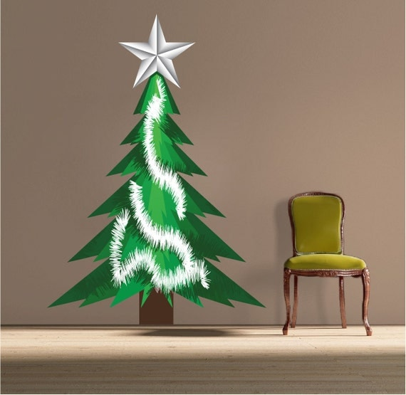 Liamaria Christmas Tree Wall Decoration : Christmas tree decal holiday wall designs