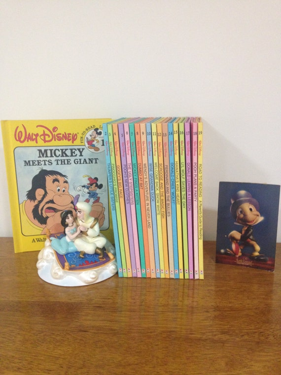 Walt Disney Fun-To-Read Library 18Books 1986 Used Condition