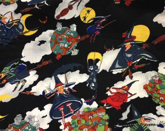 Haloween Black Polycotton Fabric Dress/Craft Fabric 125cm Wide …