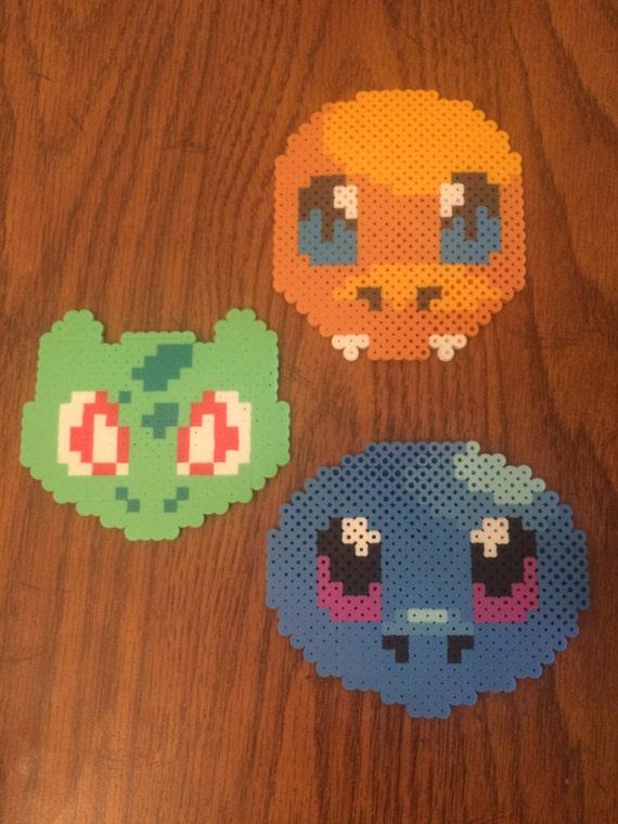 Kanto Starters + Pikachu - Bead Design