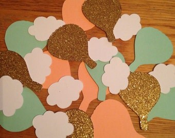 Hot air balloon confetti,Confetti,Birthday confetti,Hot air balloon,Baby shower confetti,Bridal shower confetti,Birthday,Baby shower