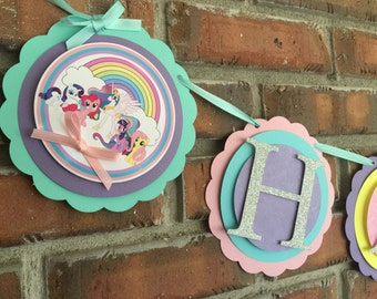 My little pony banner. My little pony party. My little pony birthday decorations. My little pony.