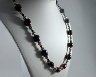 Black Cherry Freshwater Pearl Necklace