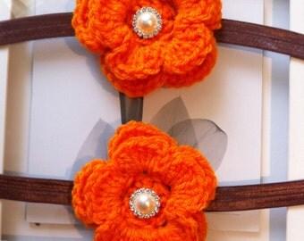 Pumpkin headband, orange headband, fall headband, halloween headband, baby orange headband, orange headband, crochet orange headband
