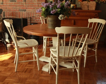 Hand Painted French Country Kitchen Table and 4 Chairs