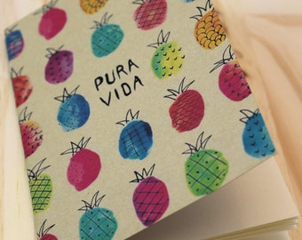 Book 16 pages - pura vida - pineapple