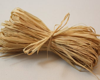 50g of natural raffia - natural fiber - scrapbooking - gift wrapping