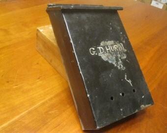SALE!! Galvanized Mailbox / Black Vintage Mailbox
