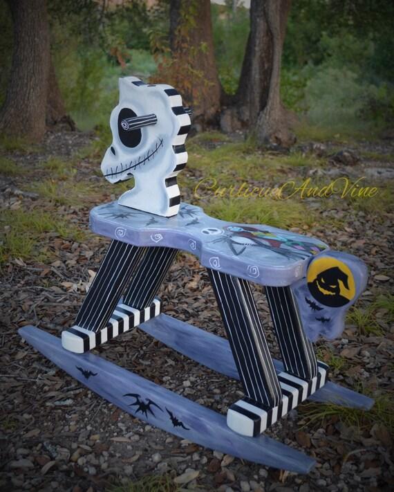 Nightmare Before Christmas Inspired-Baby-Nursery-Rocking Horse