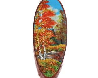 """Painting """"summer"""", Crumb natural stone, natural wood, natural stone, natural wood"""