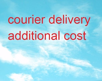 courier delivery. additional cost