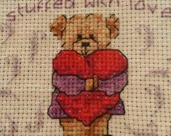 Intricate cross stitch bears