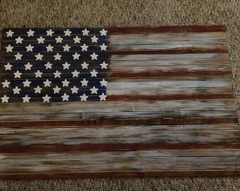 17x27 American flag wood sign