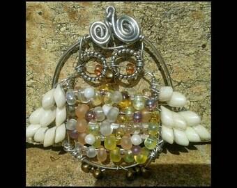 Mrs Hoot Owl pendant necklace