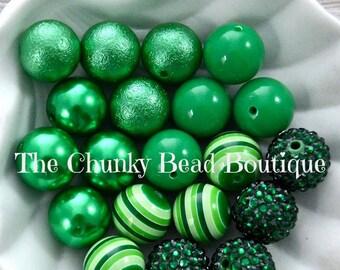 20mm green bead assortment