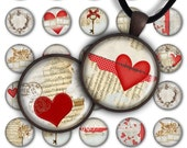 75% OFF SALE All my love - Digital Collage Sheet PC066 Valentine's Day 1 inch round 1 inch circle Pendant Printable 25mm love jewelry making
