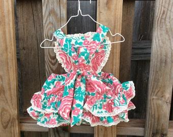 Vintage style baby romper/sunsuit
