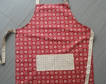 Apron - Red and Cream