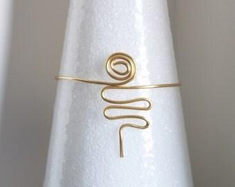 Arm cuff gold- arm band- arm bracelet- summer jewelry- arm cuff jewelry- fashion jewelry- costume jewelry- bridal jewelry- handmade jewelry