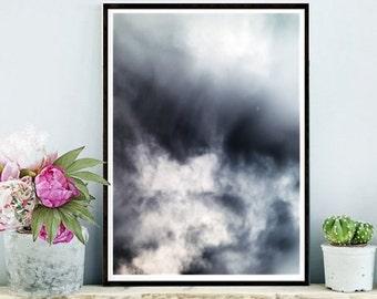 Abstract Photo,  Clouds Photo, Printable Art, Nature Print, Sky Photo,  Abstract Print,  Downloadable, Modern Wall Art, Wall Decor