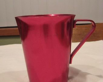 Bright Pink/Purple (Fuchsia) Aluminum Pitcher