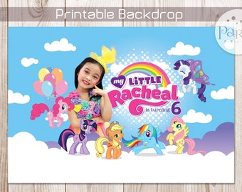 My Little Pony Backdrop Banner with Photo