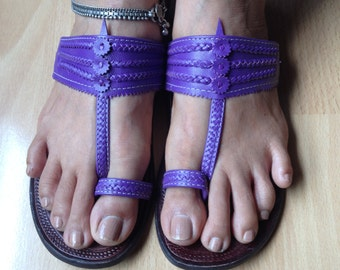 Flash Sale,Women's Handmade Sandals,Leather Sandals,Leather Sandals, Sandals,Womens leather slip ons,gifts for her,Resort wear,Purple sandal