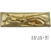 Gold Top Knot Headband