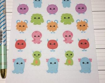 Cute Kawaii Monster Planner Stickers