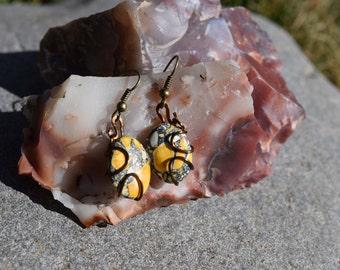 Yellow Magnesite Earrings
