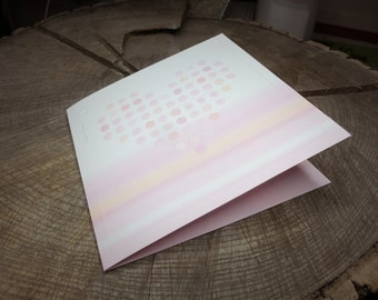 Dotted Heart Card Only ~25 pieces #100958