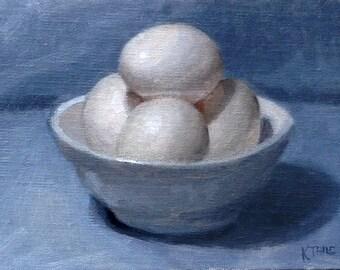 Eggs - Sketch in Oil