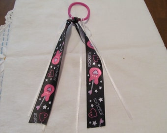 Rockstar Ribbon Ponytail Holder, Hair Tie, Birthday gifts, Gifts for her, Gifts for girls, Hair Accessories, Hair Tie, Gifts for teens