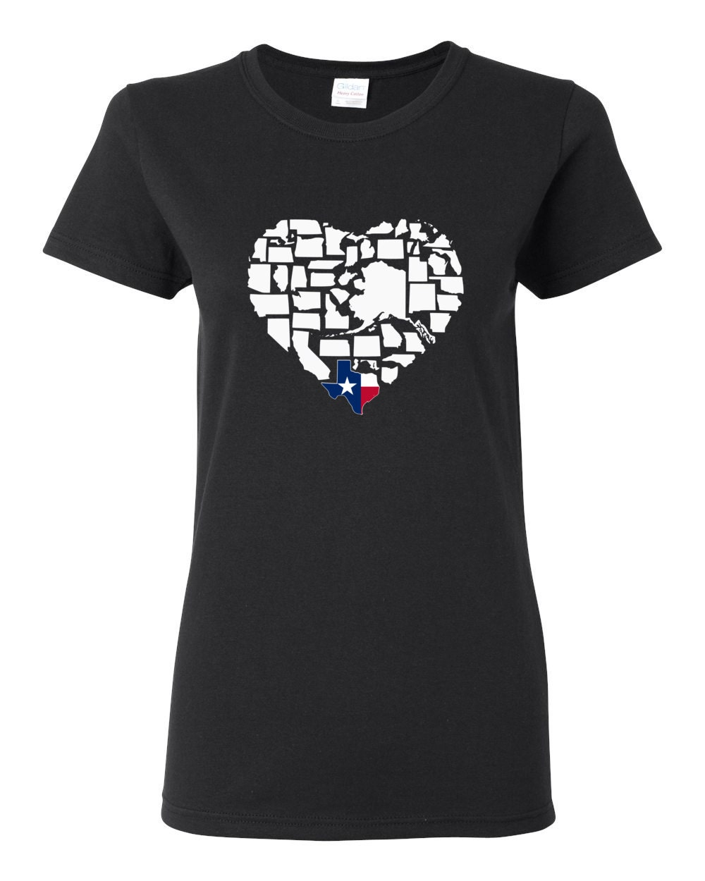 Texas T-shirt - Deep In The Heart Is Texas Womens My State Texas T-shirt